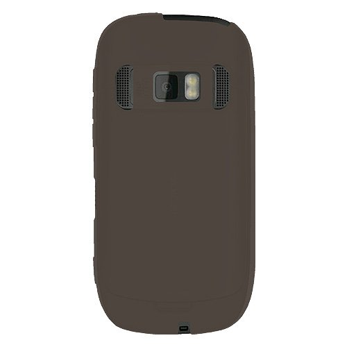 Amzer - Custodia in Silicone Morbida per Nokia C7, Colore: Grigio