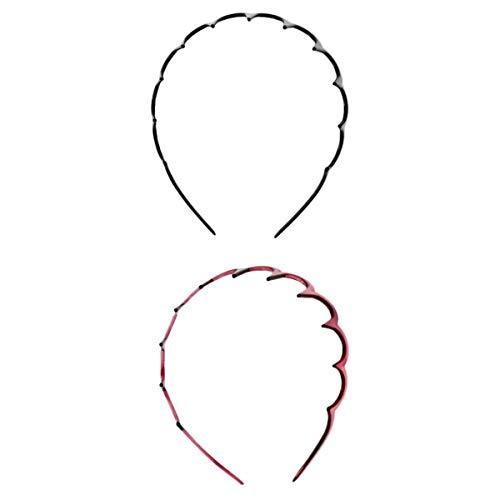SM SunniMix 2Pcs Fashion Damen Damen Zig Plastic Haarband Kamm mit Tiefen Zähnen