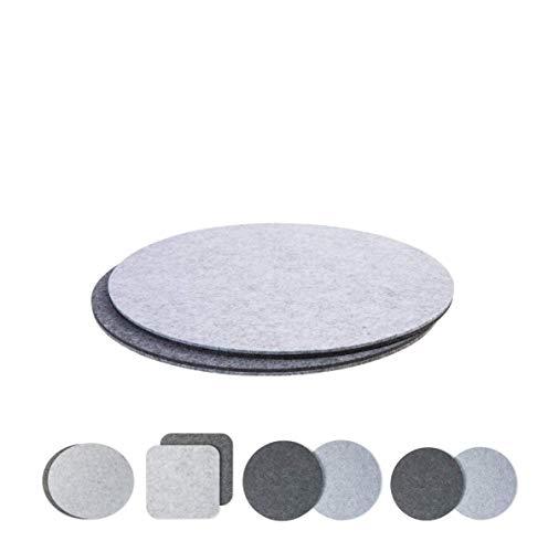 luxdag Platzset aus Filz für Teller und große Schüsseln, grau/hellgrau (Farben & Größen wählbar)