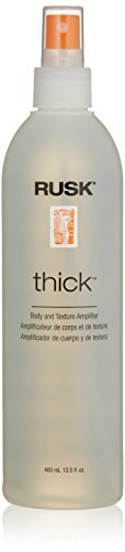 RUSK Designer Collection Thick Body and Texture Amplifier, 13.5 Oz, Gives Incredible Body, Creates Texture and Volume, Anyone with Fine, Limp, Lazy Hair