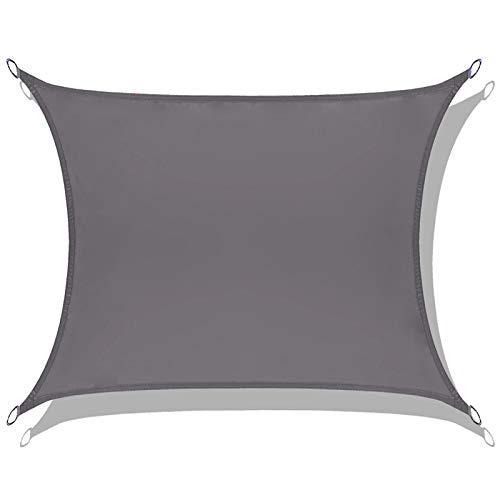 LOVE STORY Toldo Vela de Sombra Impermeable(PES) Rectangular 2×3m Antracita Protección UV para Terraza Camping Jardín al Aire Libre