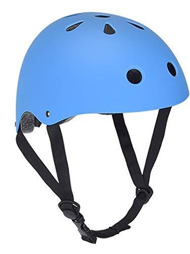 Adult Helm Rollschuh Street Dance Skating Integrierter Fahrradhelm Outdoor Reitausrüstung blau 24X21CM