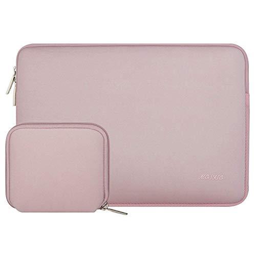 MOSISO Sleeve Hülle Tasche Kompatibel mit 2019 MacBook Pro 16 Zoll Touch Bar A2141, 15-15,6 Zoll MacBook Pro Retina 2012-2015, Wasserabweisend Neopren Hülle Laptoptasche mit Klein Fall, Baby Rosa