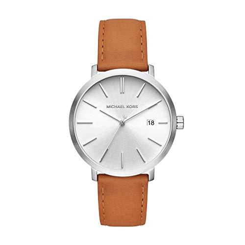 Michael Kors herenhorloge analoog kwarts horloge met lederen armband MK8673