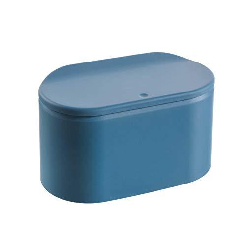 Tischmülleimer Mit Push Deckel, Mini Kleiner Abfalleimer Tisch Mülleimer, Bad Kosmetikeimer Tischabfalleimer Für Küche Badezimmer Büro Schreibtisch WC Auto Bett Geruchsdichter Klein Plastik