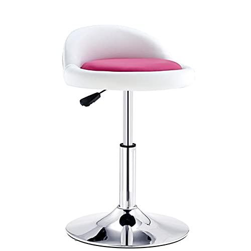 PZJ-Muebles Taburetes de Bar de diseño Moderno con Altura Ajustable y rotación de 360 °, taburetes Altos ergonómicos aerodinámicos para Barra de Bar, Cocina y hogar,D