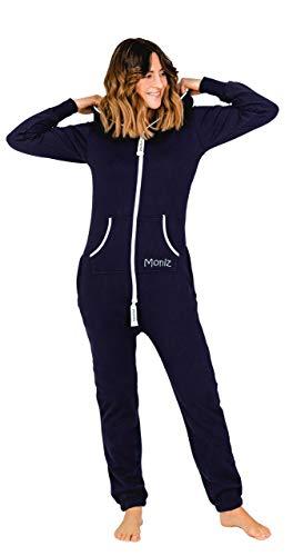 Moniz Moniz Damen Jumpsuit, dunkelblau, Größe M