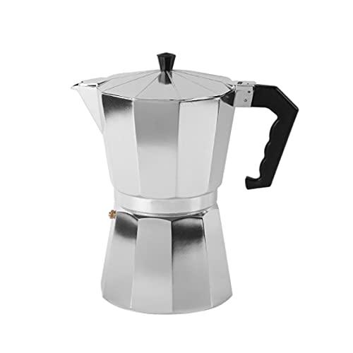 Caffettiera italiana, caffettiera tradizionale, 3 tazze di capacità (150 ml), manico ergonomico, tappo di sicurezza, filtro rimovibile.