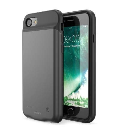 ITRUSTZ Collection 3000 mAh Rechargeable Soft Silicon Power Bank Battery Case for iPhone 6/6S/7/8 (Black)