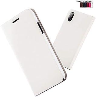 iPhone 7 あいふぉん 8 手帳型 ケース カード収納 Qi充電対応 - univo colors 現金収納 アイフォン 7 & 8 高級PUレザー 全面保護 防指紋 軽量 4.7inch (ホワイト)
