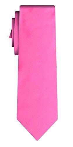 Cravate unie solid powerful pink VII