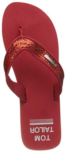 Tom Tailor Damen 1194601 Flipflop, red, 38 EU