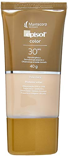 Protetor Solar Color Pele Clara Fps 30, 40G, Episol