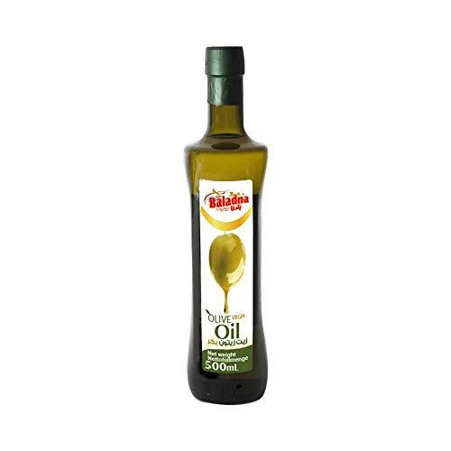 Baladna Natives Premium Olivenöl 500ml aus natürlichem, gentechnisch freiem Anbau zum Kochen, Braten und verfeinern, mild & fruchtiger Geschmack – 100% HALAL