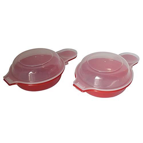 PYCONG - Juego de 2 herramientas de cocina para sándwiches de huevo, microondas y queso rápido de 1 minuto, tortilla de hamburguesa (color: 2 unidades)