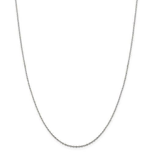 925 Sterling Silver .5mm Flat Link Cable Chain Necklace 18 Inch Pendant Charm Fine Mothers Day Jewelry For Women Gifts For Her 1/2 Sterling Silver Jewelry