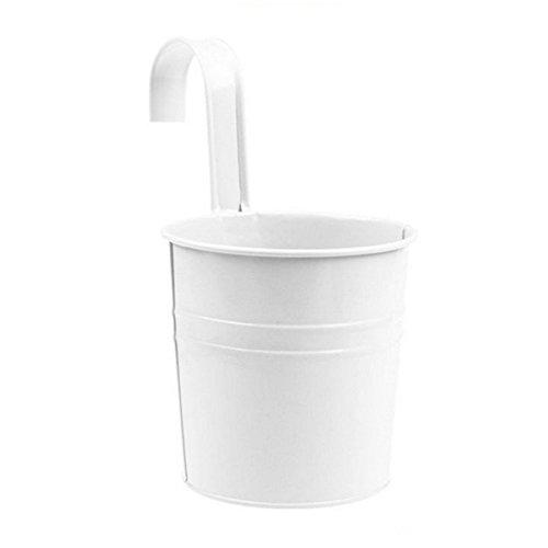 haodou Métal Fer Pots de fleurs hängender Pot de fleurs vase à bulbe suspendues Vase balcon jardin Toit Maison Décoration 10 x 10 x 15,5 cm 10 X 10 X 15.5CM White