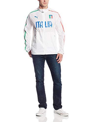 PUMA FIGC Italia Walk-Out-Jacke, weiß, Größe XL