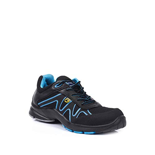 Lavoro 1269.11 Energy Range Wave Men Metal Free Sneaker, ESD, CE, S3, SRB, schwarz/blau, 10 Gr.