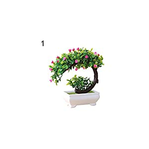 Artificial Plant Bonsai Fake Flower Potted Ornament Home Hotel Garden Decor Gift Artificial Plants New,1