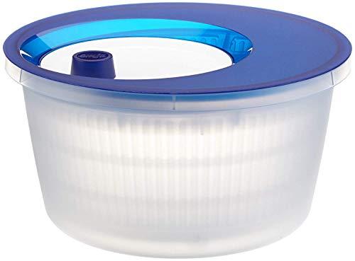 Emsa 505088 Salatschleuder mit Kurbel, 4 Liter, Blau/Weiß, Basic