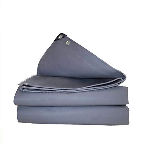 Heavy Duty Tarpaulin Screen Protection, Grijs, Waterdicht/zonnescherm/winddicht, Schuurdoek, Dubbelzijdig, Dik doek, Gromet, Multi-size 3.8mx5.8m Grijs