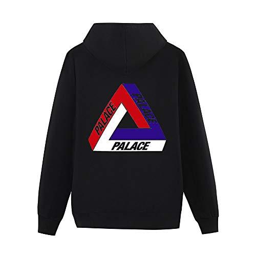Hoodie Mode Pour Hommes à Capuche en Laine Sweat-Shirt à Capuche Hommes Palace Veste Noire 4XL