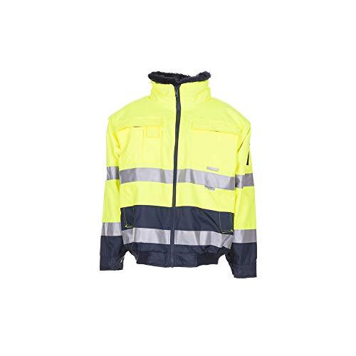 Planam Comfort-Jacke Warnschutz, Größe XL, gelb/marine, 2047056
