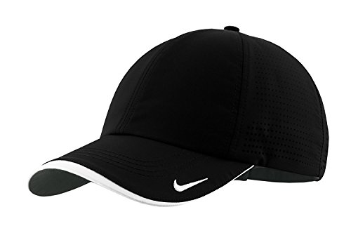 Nike Golf 429467 Adult's Dri-FIT Swoosh Perforated Cap Black One Size