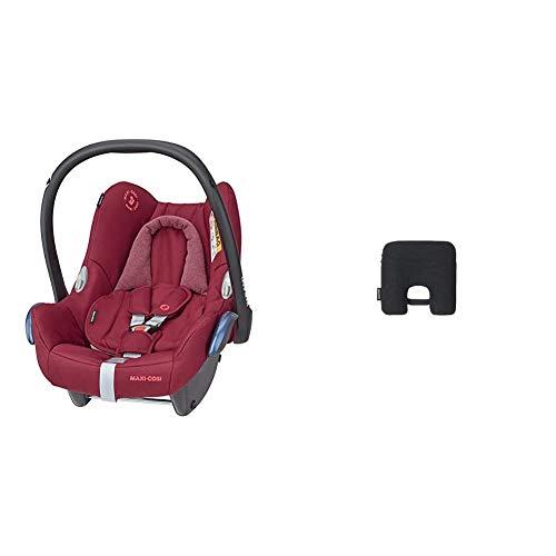 Maxi-Cosi CabrioFix Babyschale, Baby-Autositze Gruppe 0+ (0-13 kg), nutzbar bis ca. 12 Monate, passend für FamilyFix-Isofix Basisstation, Essential Red (rot) + Maxi-Cosi e-Safety