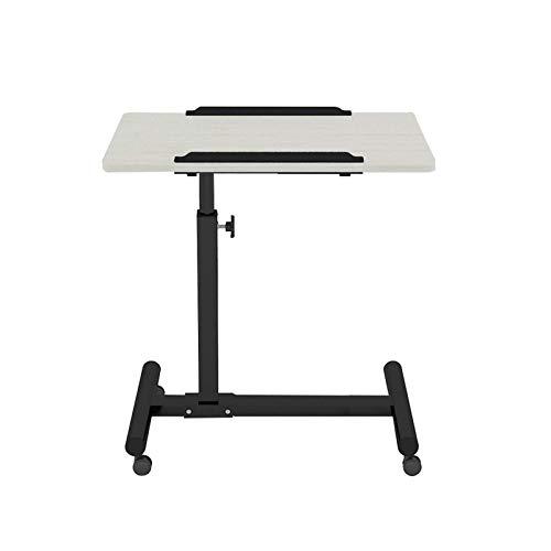 Las estaciones de trabajo móvil del ordenador portátil mesa de altura ajustable mesa portátil de escritorio móvil Mesa lateral Mesa for computadora pequeña espacio for la oficina en casa Dormitorio