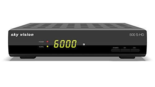 Sky Vision 500 S-HD (HDTV Satellitenreceiver, HDTV, lernbare Fernbedienung, Full HD, Scart, USB, Unicable)