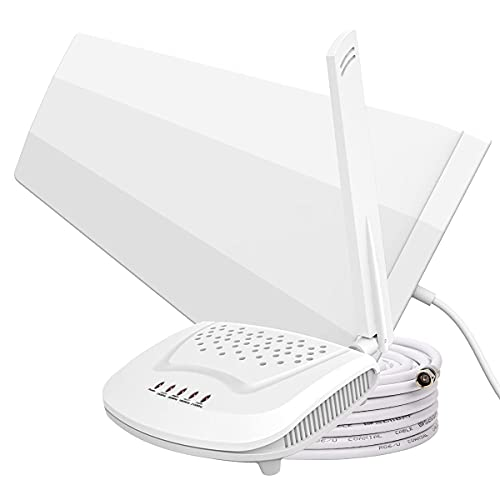 Amazboost Cell Phone Booster for Home - High Gain Antenna 5 Bands 3G 4G LTE, Apply to All US Carriers - AT&T, Verizon, T-Mobile, Sprint, U.S. Cellular, etc - Signal Boosters Supports 1,500 Square ft