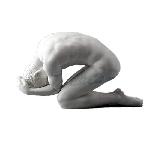 GHFT Estatuas De Terror De Halloweengeneración Arte Corporal Desnudo Masculino Escultura Abstracta Niño Estatua Personaje Gay Estatua Pensador Esmalte Esmerilado Cerámica Decoración del Hogar R17