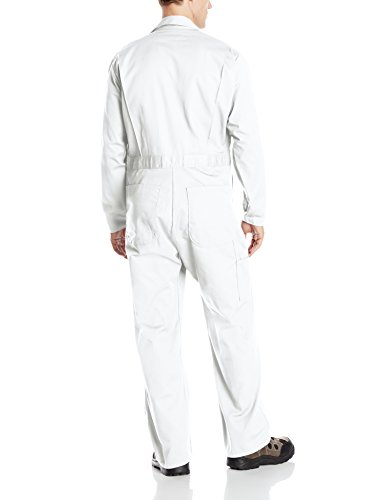 Red Kap Men's Button Front Cotton Coverall, White, 36