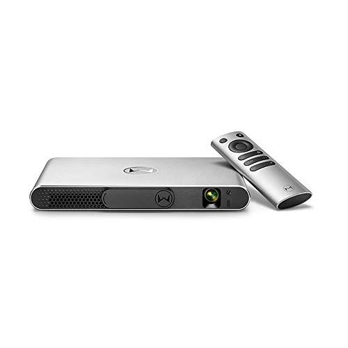 GWX Proyector Mini3d Inteligente, 1080p HD Compatible con Conexión Inalámbrica Interactiva Multipantalla, Corrección Trapezoidal Automática