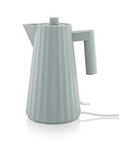 Alessi Plissé | MDL06 G - Elektrischer Wasserkocher aus thermoplastischem Harz, grau Eurostecker.