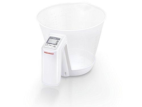 Soehnle Digitale Küchenwaage Baking Star mit 3 Kilo Tragkraft & 1-g-Teilung, Haushaltswaage mit abnehmbarer Schüssel & 1,5-Liter Fassungsvolumen, Waage für die Küche mit 7 Skalen zum schnellen Messen