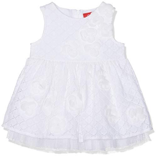 s.Oliver Baby-Mädchen 59.902.82.5262 Kleid, Weiß (White 0100), (Herstellergröße: 68)