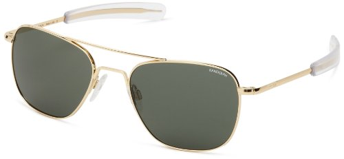 Randolph Engineering Aviator Gold Plated Bayonet 55mm AGX Sunglasses