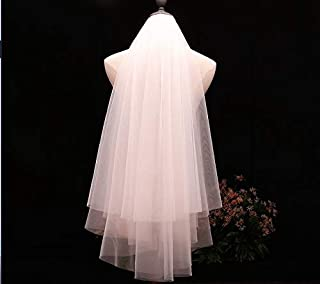RLYBDL In stock voile Short Veil Cheap wedding accessoriesBridal Veil 2020 bridal accessories (Color : Ivory)