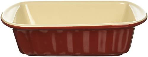 Bradshaw International, Red, QT, Ceramic Rectangular Baking Dish, 1 Quart