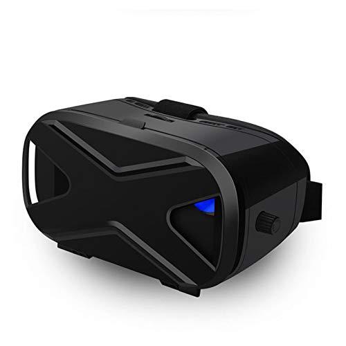 WWDKF Juego De Realidad Virtual Panorama 3D Cinema VR Headset, Audiovisuales VR Gafas Integradas, 3D Smart Phone Game Cinema,A