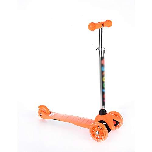 ASZX 3 Wheel Kick Scooter Kinder Kleinkind Roller mit LED-Blinkrädern und verstellbarem Lenker für Kinder von 2...