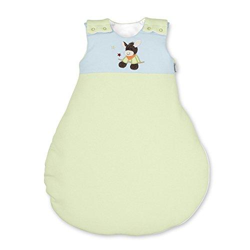 Sterntaler Schlafsack für Babys, Reißverschluss und Knöpfe, Größe: 62/68, Emmi, Grün/Blau