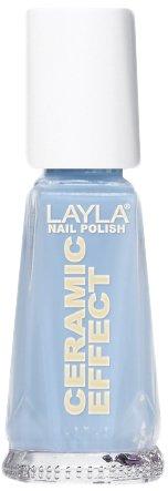 Layla Cosmetics 1243R23-018 Ceramic Effect nagellak - Italian blue sky, per stuk (1 x 0,01 l)