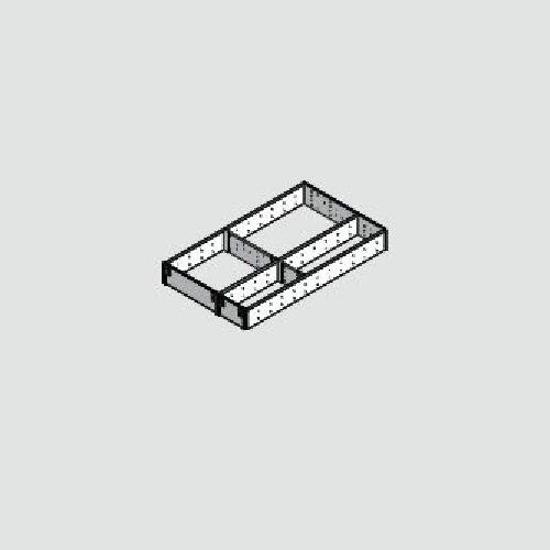BLUM ZSI.550FI3 ORGA-LINE vakindeling set ZSI.XXXFI3, nominale lengte 550 mm, zilver