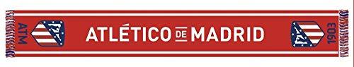 Bufanda Telar Atlético de Madrid - Nuevo Escudo - Rojo Blanco