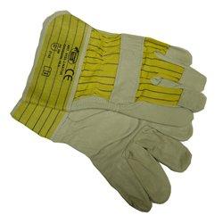 Arbeitshandschuhe aus Leder Rind-Vollleder XL Gr. 10, J-Natur, gefütterte Lederhandschuhe