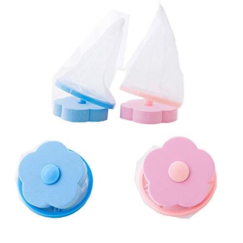 2PCS Cattura peli Lavatrice, Riutilizzabile Floating Sacchetto Filtro, Filtro per capelli Borsa a rete galleggiante Lavatrice Filtro per lavatrice Trappola